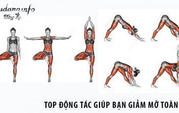 Top động tác giúp bạn giảm mỡ tất cả các bộ phận trên cơ thể