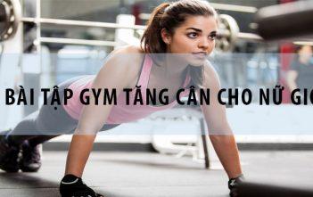 5 bài tập gym tăng cân cho nữ giới