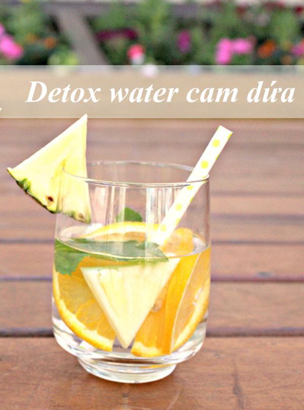 Detox từ trái cam và dứa