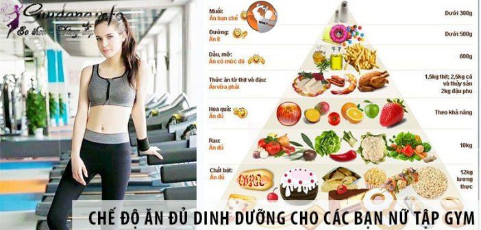 Chế độ ăn đủ dinh dưỡng cho các bạn nữtập Gym