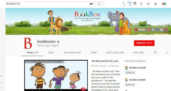 BookBox Inc kênh kể chuyện với các câu chuyện cổ tích, ngụ ngôn