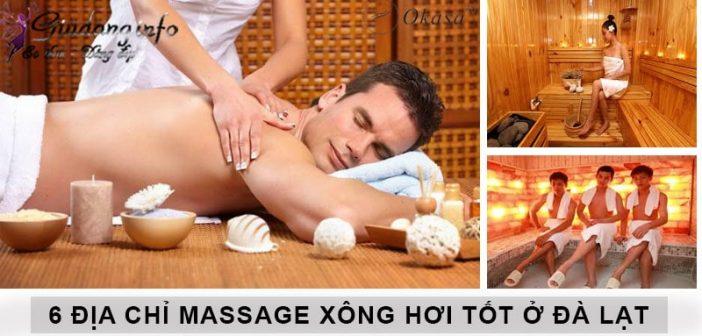 Các địa chỉ massage xông hơi ở Đà Lạt nên đến