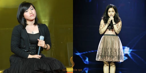 Hình ảnh Thùy Chi trước và sau giảm cân