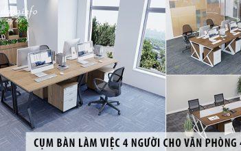 Mua cụm bàn làm việc 4 người giá rẻ cho văn phòng 40m2