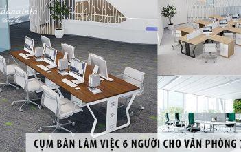 Mua cụm bàn làm việc 6 người cho văn phòng rộng 70m2