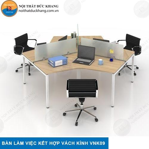 Vách ngăn bàn làm việc bằng kính VNK09