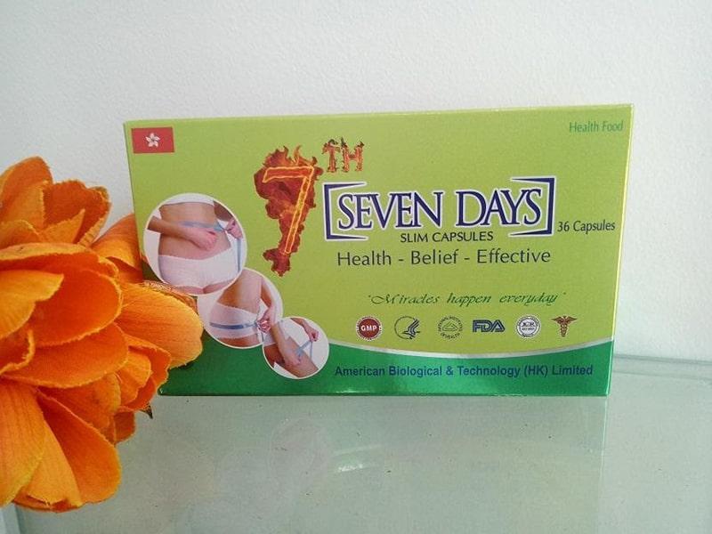 Thuốc giảm cân Seven days là 1 loại thuộc giảm cân hot trong năm 2020